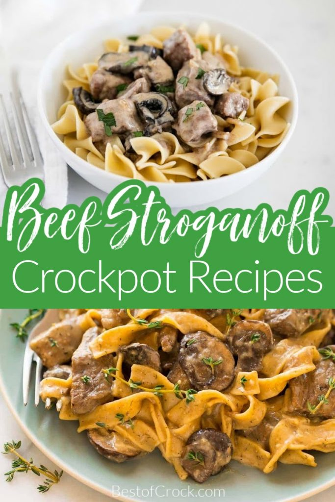 Make delicious and easy crock pot beef stroganoff recipes for an easy dinner recipe. It's also an easy recipe to tailor for an easy party dinner recipe. Creamy Beef Stroganoff Slow Cooker | Crockpot Beef Stroganoff with Golden Mushroom Soup | Beef Stroganoff Slow Cooker From Scratch | Healthy Beef Stroganoff | Healthy Crockpot Recipes | Slow Cooker Pasta Recipes #crockpotrecipes #partyrecipes