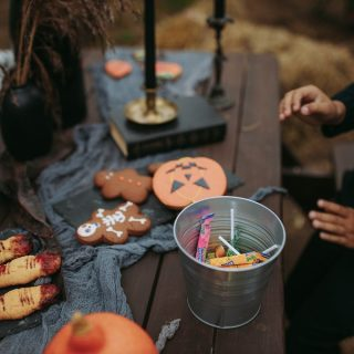Instant Pot Halloween Recipes Close Up of a Table with Halloween Treats